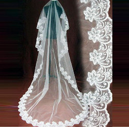 Wholesale 2013 Luxury Chathedral Wedding Veil Wedding Lace Applique Wedding Accessories Wedding Dress V001