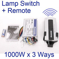 Wholesale RF remote control Lamp light switch button Wireless for lighting systems ways