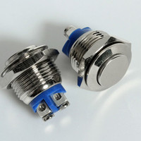 Cheap FREE SHIPPING 5 pcs Stainless Momentary Push Button OFF(ON) Switch16BN
