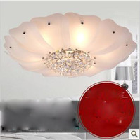 Wholesale Circular K9 crystal dome light lamp of contemporary and contracted sitting room bedroom lamp restaur