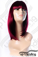 Wholesale HEAT RESISTANT TRENDY FRINGE LADY WIG BURGUNDY W53 jpg