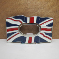 Wholesale Bottle opener belt buckle UK flag belt buckle FP with continous stock