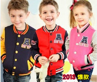 boys/girls baby boutique boys - 2013 New Style boys girls jackets Boutique cotton Heavy hair ring children coats Year baby jacket