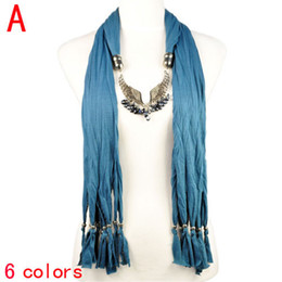 JEWELRY Angle Wing charm pendant neck scarf,without stones on wing pendant neckerchief scarf for lady ,6colors avaiable NL-1922