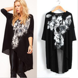 2013 Western Fashion women T-shirts new black Skull T-shirts pullover half sleeve women's clothing