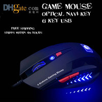 Wholesale GAMING MOUSE Mighty Mouse USB notebook computer mouse key blue Optical Navi Key