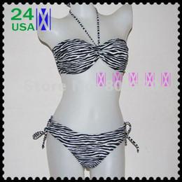 New Womens Zebra Black White Striped Bikini Swimsuits S M L XL XXL swimwear