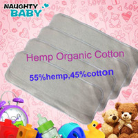 Wholesale 30 layers Washable Reuseable Hemp Organic cotton Baby Cloth Diaper Nappy Inserts