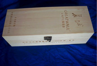 Wholesale Wooden Wine Box pine wood with the cheapest price
