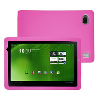 Wholesale Pink Silicone Skin Case For Acer Iconia Tab A500 inch Tablet