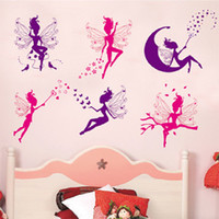 Wholesale Removable Wall Stickers Flower Fairy Home Decoration Wall Decals for Children s Room