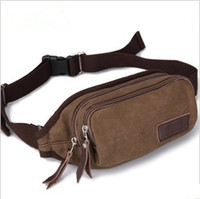 Wholesale Brand New Korean Style Men Canvas Waist Bag Waist Pack Outdoor Chest Bag Satchel