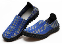 Wholesale 2013 Brand New Men Breathable Knit Mesh Fabric Elastic Shoes Designer Male Casual Loafer