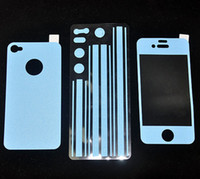 Wholesale 100pcs Full Body Color Colour Leather Sticker Screen Protector For iphone G S