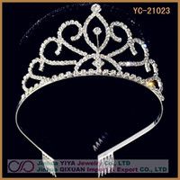 Wholesale Rhinestone Crystal Tiara Crown for Wedding Bride Pageant Hair Jewelry Factory Wholesal