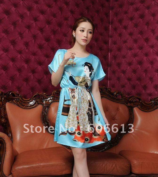 Hangzhou Silk ,Lady Silk like Pajamas, Sexy Silk Sleepwear Pajamas ...
