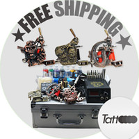 Wholesale Professional complete cheap tattoo kits guns machines ink sets needles grips tubes power arrive within days D25DH