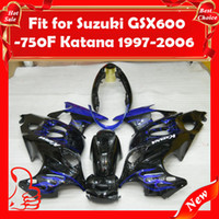 Wholesale GSX750F Body Fairing for Suzuki GSX600F GSX750F GSX F F Katana ABS Blue Black