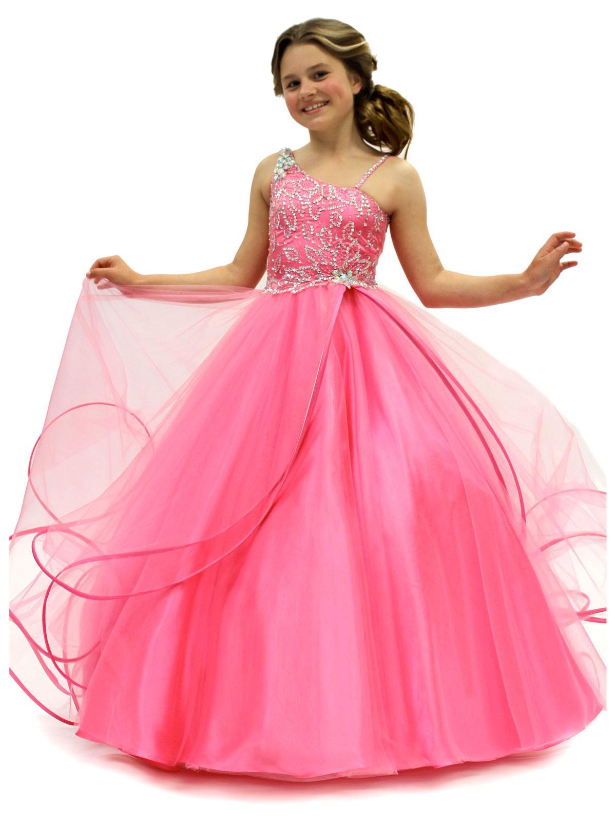 Beautiful Asymmetrical Neckline Ball Gown Beaded 2013 Girls ...