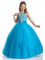 Reference Images Girl Beads New Style Exquisite Beading Hlater Ball Gown Girls Pageant Dresses Custom Made Little Girls Dresses