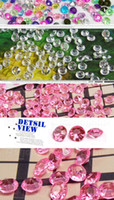 Wholesale 12 Set Colorful Wedding Table Crystals Decorations mm in a set with one color