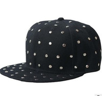 Wholesale NEW Adjustable Punk Rock Rivet Snapback Hats Caps Snap back bboy Hiphop Snapbacks Cap Hat colours