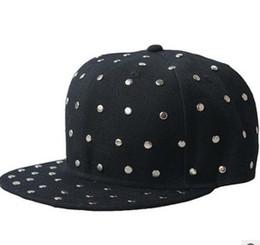 NEW Adjustable Punk Rock Rivet Snapback Hats Caps Snap back bboy Hip hop Snapbacks Cap Hat Fashion street snapback hats caps cap 10colours