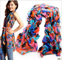 Wholesale 2013 new chiffon printing love peach heart carriage silk scarf leopard grain han skeleton head scarf