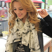 Wholesale Marilyn Monroe Style Retro Scarf Fashion Chiffon Shawl