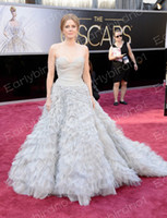 amy balls - 2013 Amy Adams th Oscar Annual Academy Awards Sweetheart Chapel Train Celebrity Party Dresses