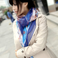 Wholesale The spring and autumn period and the new of qiu dong han female long scarf large square fan tra