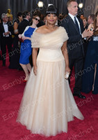 Wholesale Oscar th Ivory Academy Awards Celebrity Dresses Off Shoulder Bead Tulles A Line Octavia Spencer Prom Dress Party Evening Gowns