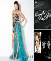 Wholesale 2013 Sexy Beads Hi Lo Sash Prom Dressees Free Bridal Tiaras Crown Jov172207 Buy Get