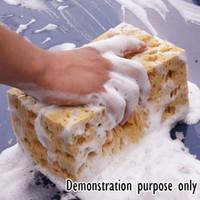 Wholesale 10pcs Car Care Wear resistant Brown Soft Sponge Car Wash Cleaning Pad