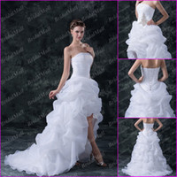Wholesale Wonderful Layers Organza Skirt Ball Gown Beads Corset Bodice Strapless Wedding Bridesmaid Dress