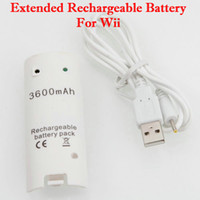 Wholesale White mAh Extended Rechargeable Battery For Wii VB230