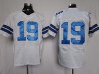 Football Men Short Elite 2012 American Football All Team 19 White Jerseys Rugby Jersey Authentic Mix Order
