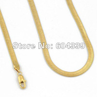 Wholesale Mens Boys Gold Filled mm Width Herringbone Necklace Chain Jewelry GN21