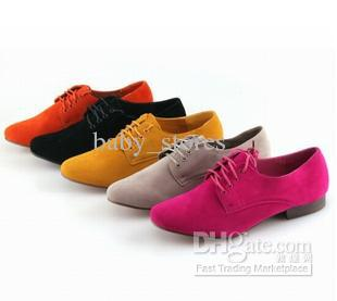 New 2015 Genuine Leather Casual Flat Shoes Brockden Flat Heel Round Toe Lace Up Oxfords Shoes