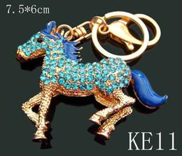 Wholesale 12pcs mixed color Unisex hot sell Zinc alloy crystal rhinestone animal Key chain fashion Keychains key ring KE11