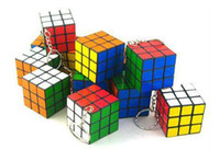 Wholesale Mini key chain Cube toys Intellectual development Cheap Kid Toys Rubik s Cube Hot selling