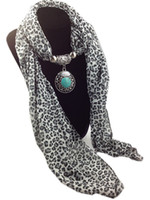 Wholesale Mixed Pendants Leopard Grain Jewelry Beads Scarf Lady Chiffon Magic Scarves