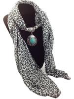 BLACK AND BROWN animal print fashion jewelry - Mixed Pendants Leopard Print Jewelry Beads Scarf Lady Chiffon Magic Scarves women shawl promotion