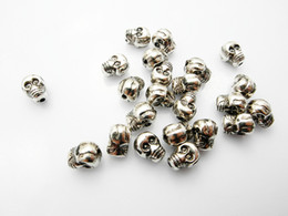 Wholesale new CCB diy beads for jewelry making CCB skull beads for shamballa bracelets antique