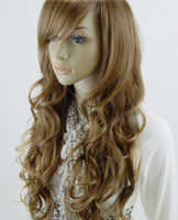 Wholesale HIGH HEAT RESISTANT MODERN SILHOUETTE LADY WIG YELLOW