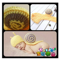 Boy Summer Crochet Hats Baby Infant New Born Snail Crochet Party Shower Costume photo Photography Prop