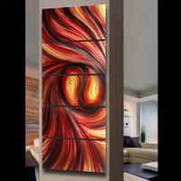 Wholesale Metal wall art sculptures modern contemporary abstract paintings wall hanging decorations A00368