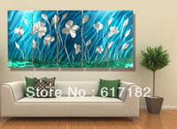Wholesale Modern contemporary abstract painting metal wall art sculpture wall hanging decorations A00296