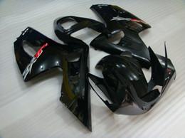 sale!all Black body for KAWASAKI ZX6R 636 2003 2004 ZX-6R 6R 03 04 ZX 6R fairing kit free windscreen