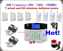 1 set xNEW 106 zones GSM home alarm system wireless Burglar Alarm Auto Dialing